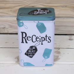 Bright Side Novelty Tin Of Denial Receipts Storage Tin