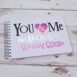 Bright Side Wedding Day Guest Book - You & Me