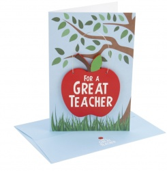 Two in One Teacher Card and Matching Gift Plaque