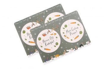 CGB Giftware Time For Turkey Cat Christmas Placemat