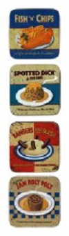 Martin Wiscombe Nostalgic Food Assorted Coasters