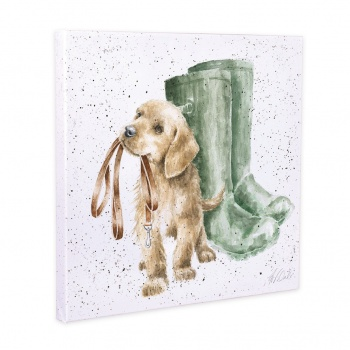 Wrendale Designs Hopeful Dog Illustrated Canvas
