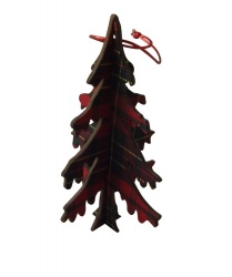 Gisela Graham Tartan 3D Christmas Tree Decoration