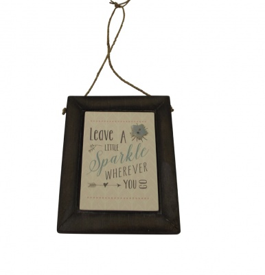 East of India Leave A Sparkle Wooden Home Plaque