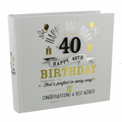 Signography 40th Birthday Gift Photo Album