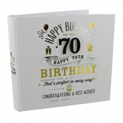 Signography 70th Birthday Gift Photo Album