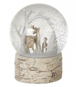 Heaven Sends Christmas Deers Snow Globe