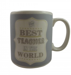 Gisela Graham Best Teacher Ceramic Gift Mug