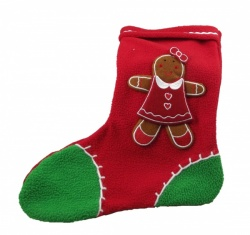 Gisela Graham Gingerbread Girl Felt Christmas Stocking