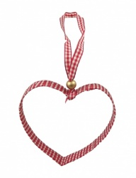 Gisela Graham Christmas Tree Decoration - Gingham Heart
