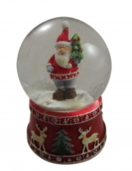 Gisela Graham Father Christmas Snowdome Decoration