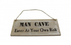 Gisela Graham Man Cave Enter at Your Own Risk Plaque