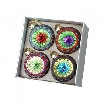 Heaven Sends Set of 4 Colourful Traditional Baubles