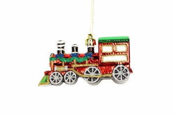 Gisela Graham Coloured Acrylic Train Christmas Decoration
