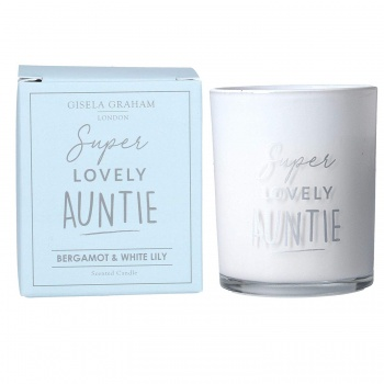 Gisela Graham Lovely Auntie Scented Candle with Box