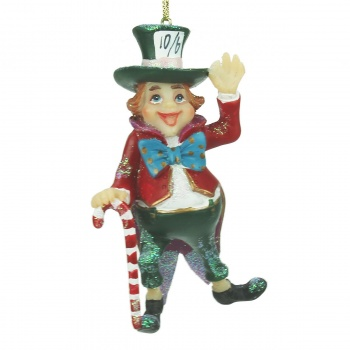 Gisela Graham Mad Hatter Christmas Tree Decoration