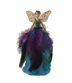 Gisela Graham Peacock Design Fairy  Tree Topper