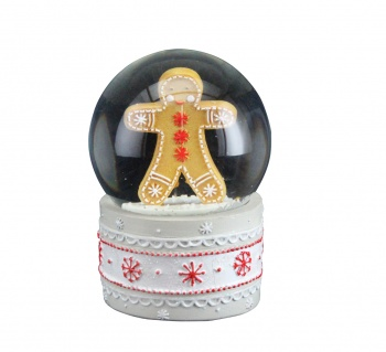 Gisela Graham Gingerbread Snowglobe Decoration