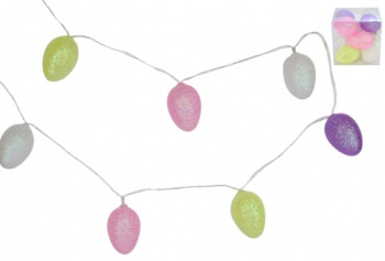 Gisela Graham LED Battery Operated Glittered Easter Garland