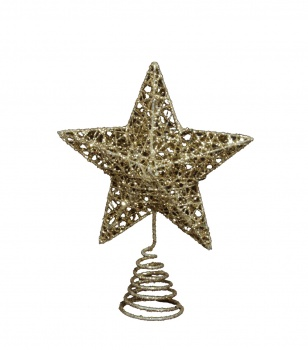 Gisela Graham Glittery Gold Christmas Star Tree Topper