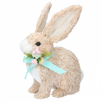 Gisela Graham Bristle Bunny Standing Home Easter Decoration