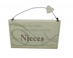 Best Niece In The World Sentimental Gift Plaque