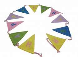 Gisela Graham Pretty Easter Bunting Home Decoration