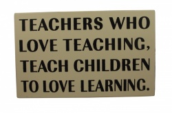 Heaven Sends Teachers Love Teaching Gift Plaque