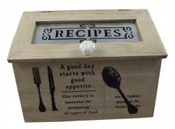 Heaven Sends Vintage Style Recipe Storage Box