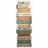 Heaven Sends Over-Sized Family Rules Wall Feature Sign