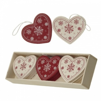 Heaven Sends Scandi Hearts Christmas Tree Decorations
