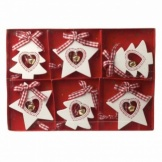Heaven Sends Wooden Star and Tree Christmas Decorations
