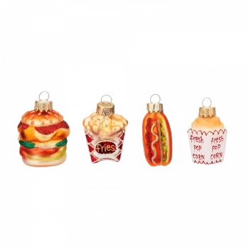 Sass and Belle Set of 4 Fast Food Shaped Baubles