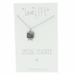 Widdop Gifts Love Life Special Teacher Necklace