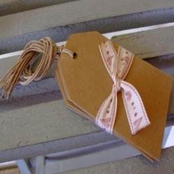 East of India Kraft Style Luggage Tags For Giftwrapping