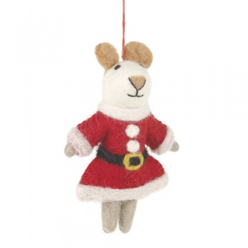 Felt So Good Mrs Santa Paws Hanging Decoration