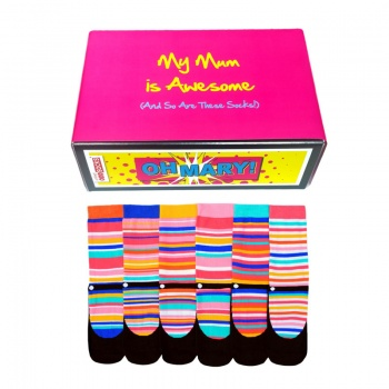 Awesome Mum Gift Set - Assorted Oddsocks for Ladies