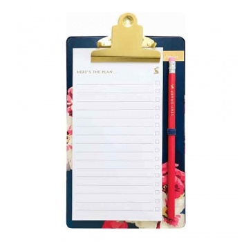 Memo Pad, Pencil and Clipboard from Joules Designs
