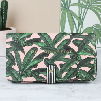 Alice And Scott Botanical Out Of Office Travel Wallet