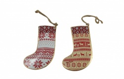Sasse & Belle Fairisle Christmas Stocking Tree Decorations