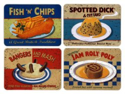 Martin Wiscombe Nostalgic Food Placemats Assorted Designs