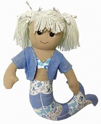 Powell Craft Childrens Fabric Rag Doll - Mermaid Design