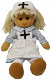 Powell Craft Childrens Fabric Rag Doll - Nurse Design