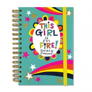 Rachel Ellen This Girl is on Fire! Ring Bound Weekly Planner