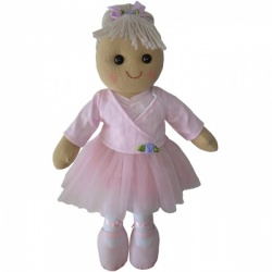 Powell Craft Childrens Fabric Rag Doll - Ballerina Design