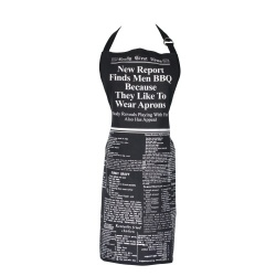 Men Like to Wear Aprons Novelty News Print Gift