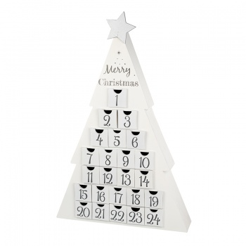 Heaven Sends Large White Christmas Tree Advent Calendar