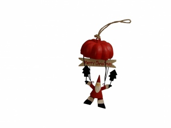 Shoeless Joe Christmas Tree Decoration Santa In A Parachute