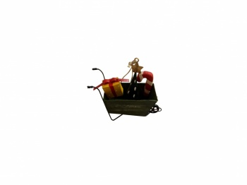 Shoeless Joe Wheelbarrow With Presents Tree Decoration