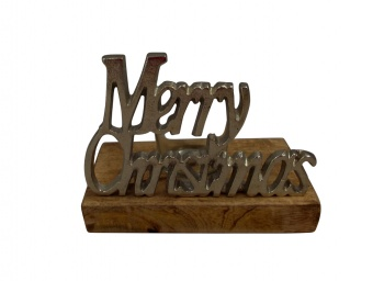 Sil Merry Christmas Decorative T-Light Holder